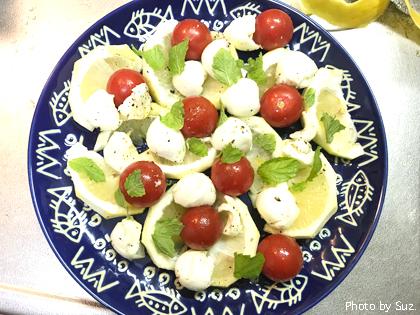 あめトマトと小夏とボッコンチーニのサラダ